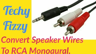 Convert Speaker Wires to RCA Monoaural