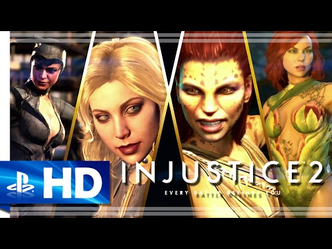 """Injustice 2 (2017) """"Here Come the Girls"""" Gameplay Trailer - PS4"""