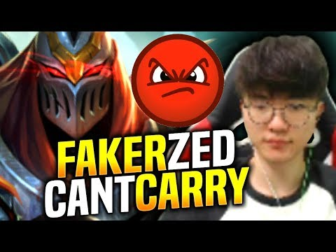 FAKER WANTS TO PLAY ZED BUT IT HAPPENED AGAIN...