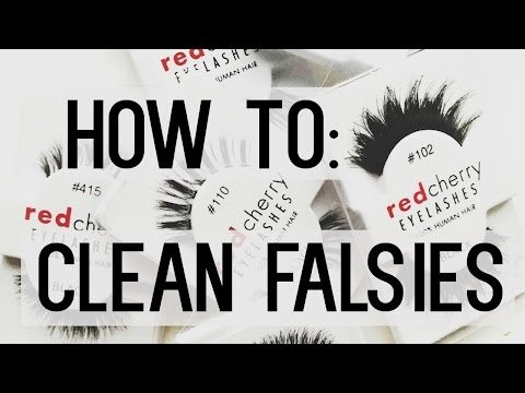 How to: Clean and reuse your false eyelashes ♡