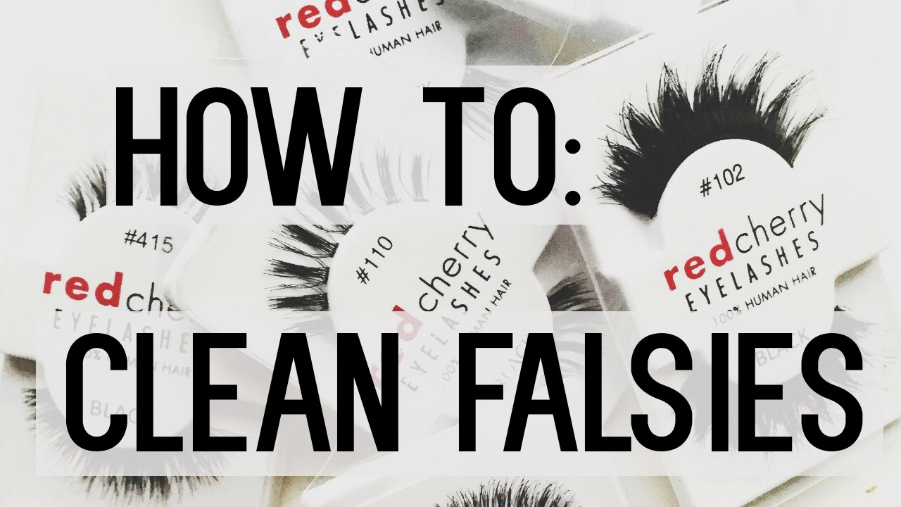 How To Clean And Reuse Your False Eyelashes Youtube