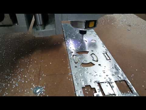 CNC Router Cutting Aluminum Panel