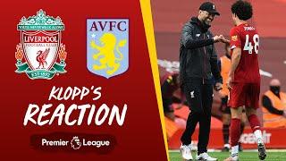 Klopp's Reaction: Keita's performance, Curtis Jones and breaking records   Liverpool vs Aston Villa