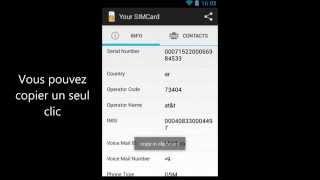 SIM Card. IMEI. Parmi d'autres (Android app)