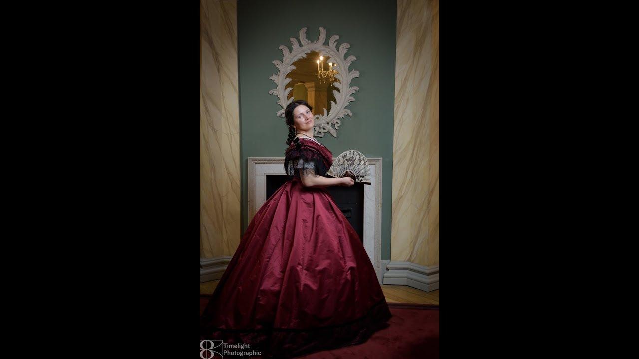Dressing a 1865 Lady  Ball Attire - YouTube 6b01c5333