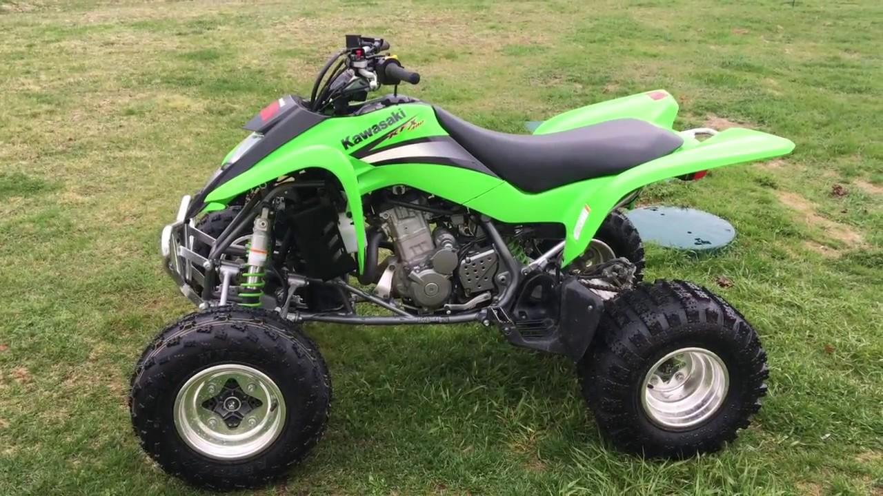 2005 Kawasaki KFX 400 ATV Startup Stock Exhaust - YouTube