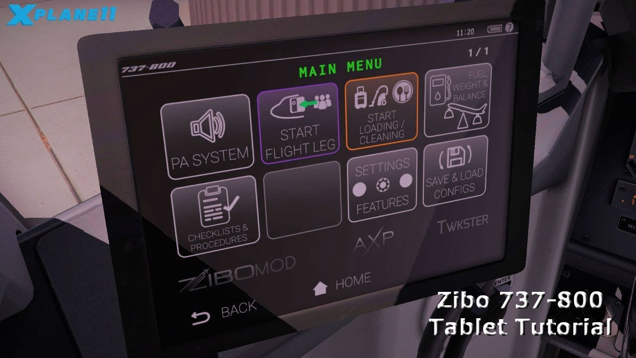 X-Plane 11 - Zibo 737-800 Tablet Tutorial