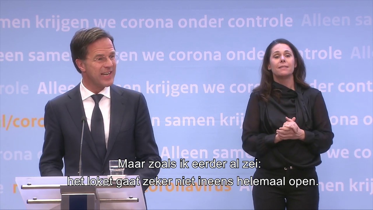 Inleidend Statement Van MP Mark Rutte En Minister Hugo De