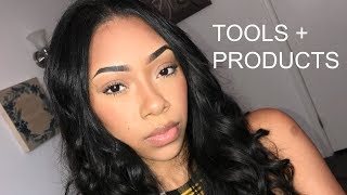 MY GO TO TOOLS AND PRODUCTS FOR SILK PRESSES/ NATURAL HAIR...