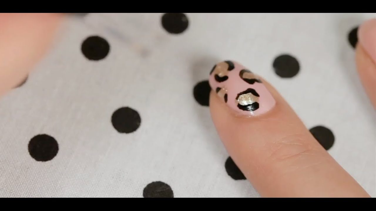 How To Create A Leopard Print Nail Art Youtube