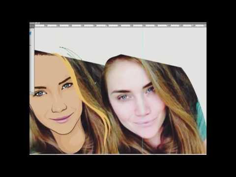 Портреты по фотографии в векторе №2 для студии Портретная клякса