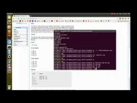 Google Code Jam 2013 - Round 1A Screencast