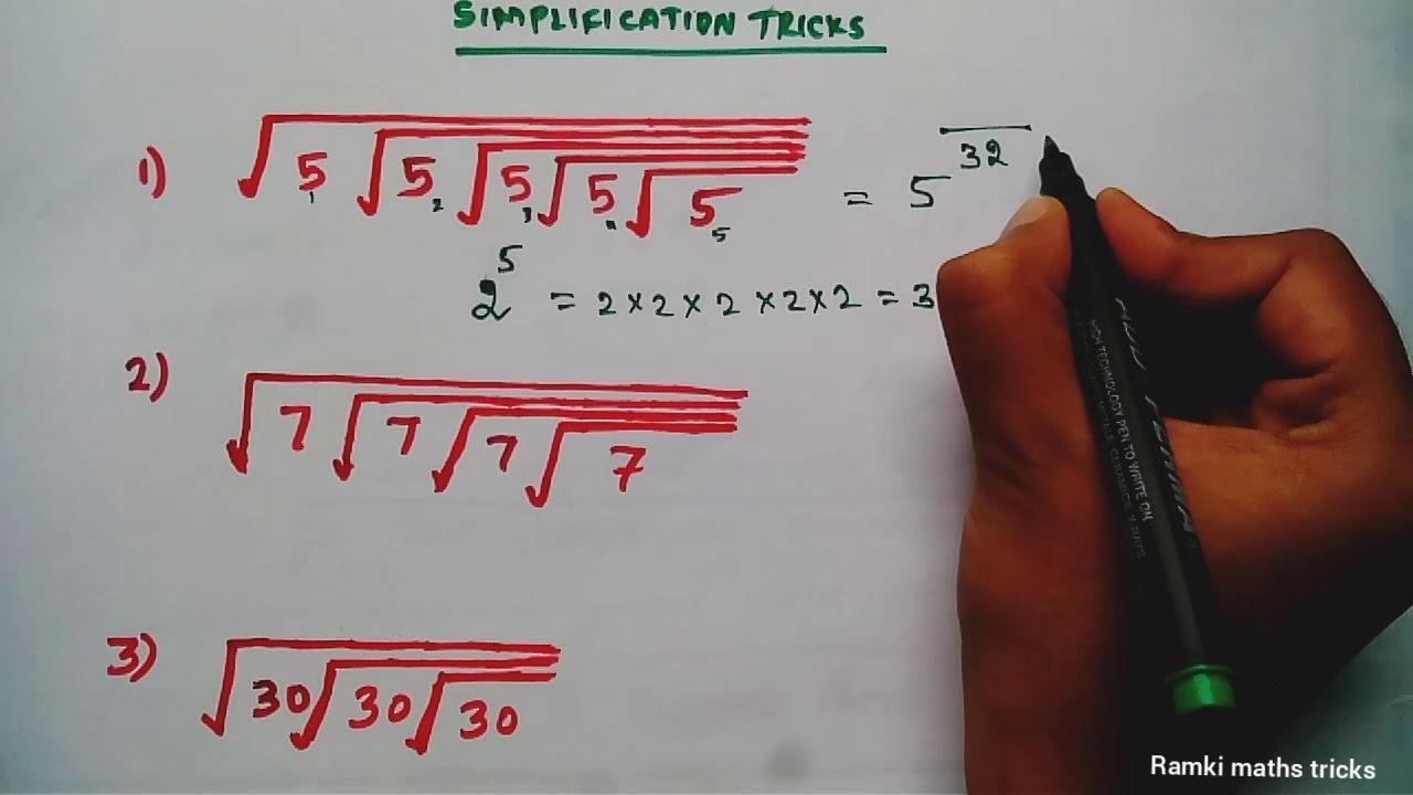 Simplification tricks in Tamil | TNPSC TNTET Maths / maths tricks for fast  calculation