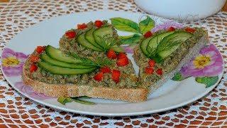 Икра из соленых груздей. Mushroom Caviar recipe.