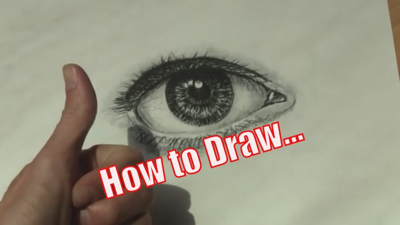 How to Draw a Realistic Eye in 2 Simple Steps - YouTube