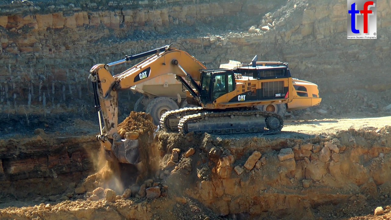 CAT 365C LME & VOLVO A40F Quarry Work / Steinbruch, Germany, 08.09.2016. - YouTube