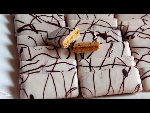 جديد حلوى بتزيين رخامي بطريقة مختلفة تماما تعطيها منضر راقي ومميز