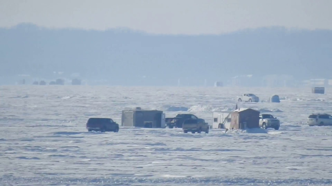 Ice fishing on mille lacs it is a town on a lake youtube for Lake mille lacs ice fishing