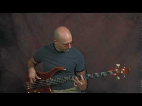online bass guitar lesson bjork army of me