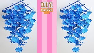 DIY Simple Home Decor   Wall Hanging Home Decoration Using Paper   Handmade  Wall Decoration
