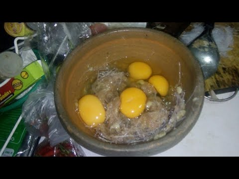 How to cook omelet with Noodles - Traditional Laos food