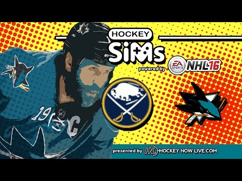 Sabres vs Sharks (NHL 16 Hockey Sims)