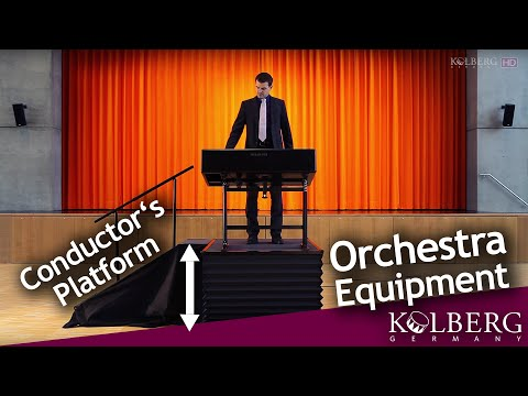 """Conductor's Platform and Music Stand (Special """"Bolshoi Theatre"""" Edition) by Kolberg Percussion"""