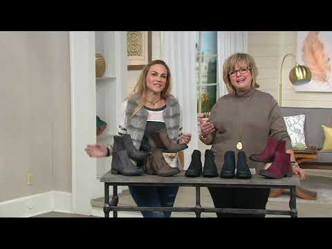 Earth Vintage Leather Side Zip Ankle Boots - Jordan on QVC