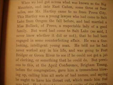 Mormon Destroying Angel Bill Hickman The Hartley Murder. Confession