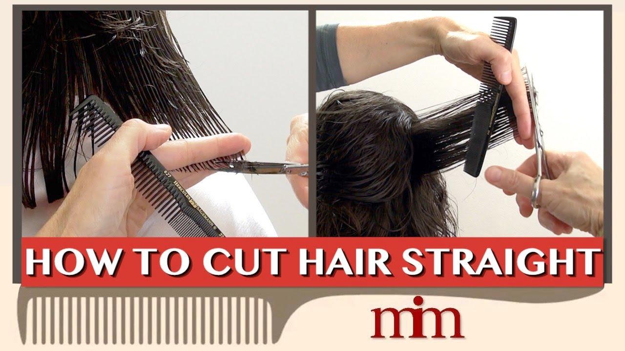 Haircut  How to Cut Hair Straight  Hair Cutting Tutorial  Haircutting  with Linda Ep. 10
