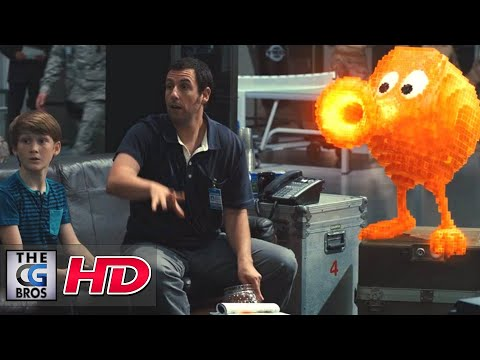 "CGI & VFX Breakdowns ""PIXELS Qbert Shot Breakdown"" - by Sony Imageworks"