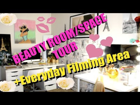 Small Beauty Area/Space Tour In My Apartment w/Limited Space | Terria Lewis