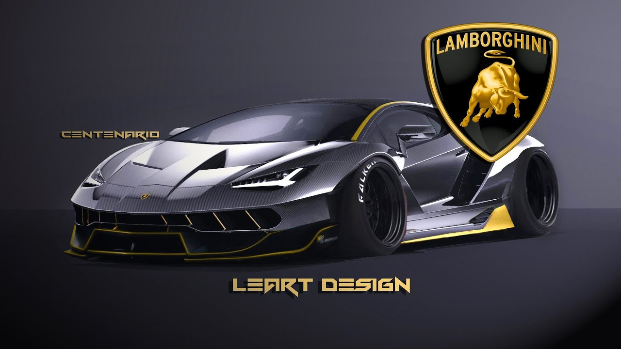 Virtual Tuning Lamborghini Centenario Photoshop Youtube