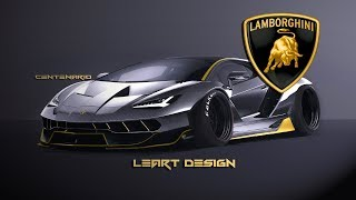 Virtual Tuning Lamborghini Centenario Photoshop