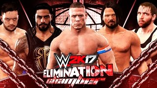 WWE 2K17 Elimination Chamber - AJ Styles vs Roman Reigns vs John Cena vs Balor vs Ambrose vs Owens