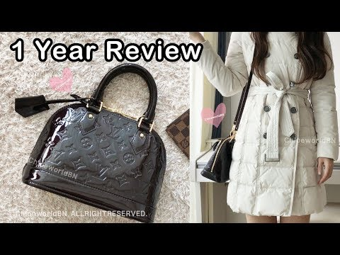 Louis Vuitton Alma Bb Vernis 1 Year Review Amarante Youtube