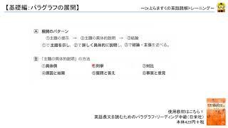 英文読解講座(基礎編):パラグラフの展開