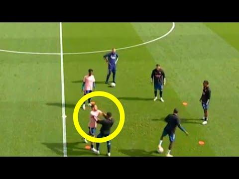Dani Ceballos And Nketiah FIGHT During Pre-match Training