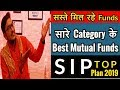 Each Category Top Best  Mutual Funds For SIP in 2019  🔥🔥🔥