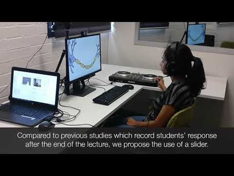 Continuous Evaluation of Video Lectures from Real-Time