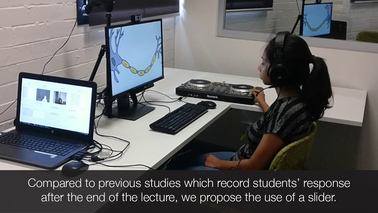 Continuous Evaluation of Video Lectures from Real-Time Difficulty