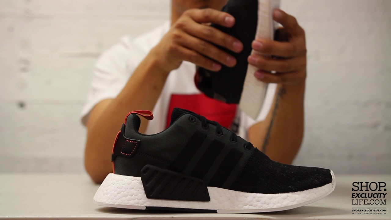 Adidas Nmd R2 Pk Black Red Unisex Sports Office