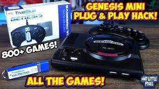 Sega Genesis Mini Hack! Almost Plug & Play USB Drive! True Blue Mini Ultradrive Review!