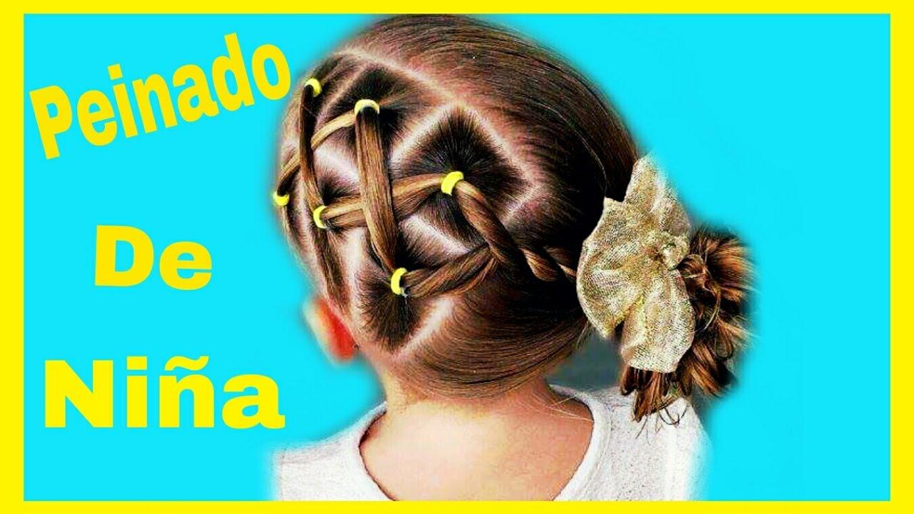 Extremadamente atractivo peinados para niña Imagen de tutoriales de color de pelo - Peinado Para Niña Con Ligas / Peinado de Lado/ Coletas De ...
