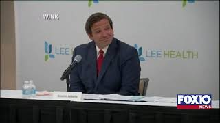 Governor Ron DeSantis will hold a press conference at Lee Memorial Hospital