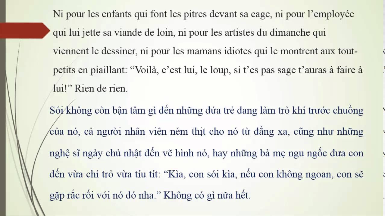 [Truyện dịch] Mắt sói (L'œil du loup) - Phần 2 (giọng đọc tiếng Pháp, song ngữ Pháp - Việt)