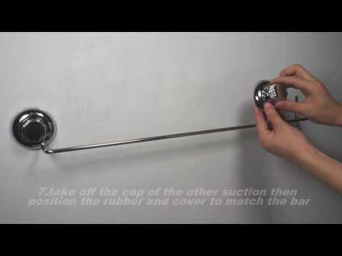 MaxHold suction cup towel bar installation