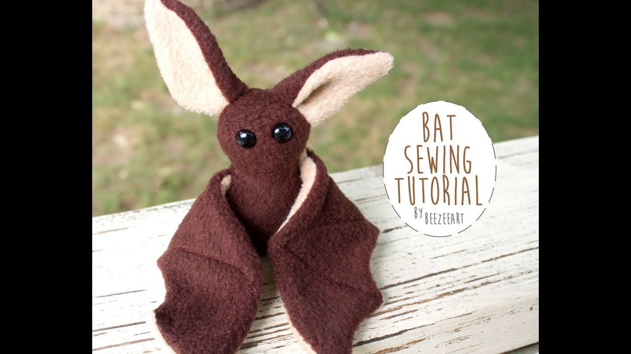 How to sew a beginner bat plush youtube how to sew a beginner bat plush jeuxipadfo Image collections