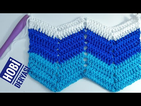 Tığ İşi Zigzag Battaniye Modeli / Zigzag Battaniye Yapımı / Crochet Blanket