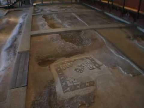 Roman Mosaics. Fishbourne Roman Palace UK